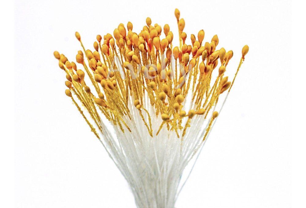 """тычинки для цветов оранжевого цвета """"курага"""", мелкие"""