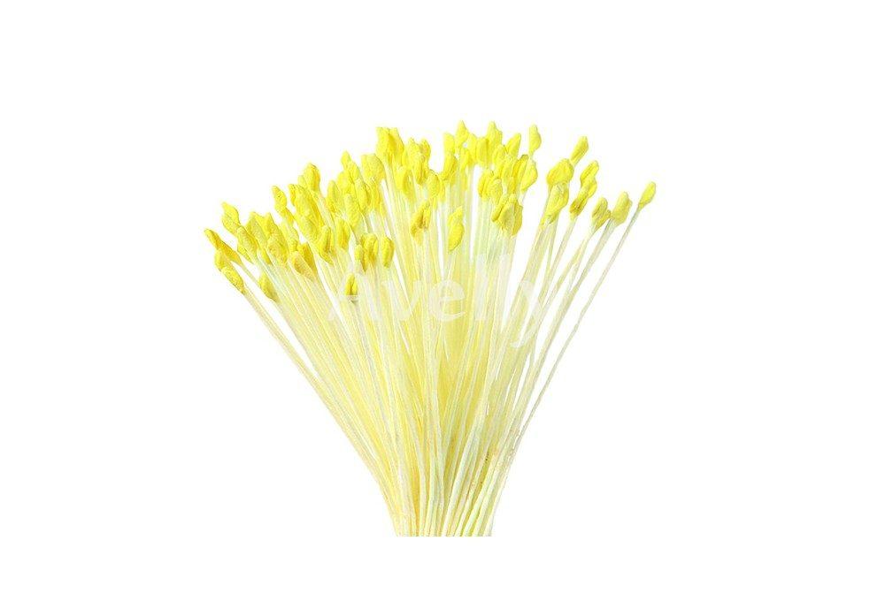 Желтые мелкие японские тычинки для цветов розы и анемона