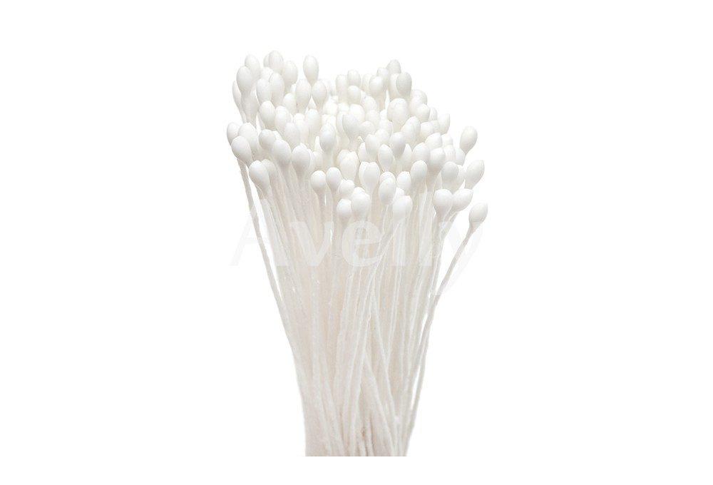Японские тычинки белые круглые мелкие 2 мм