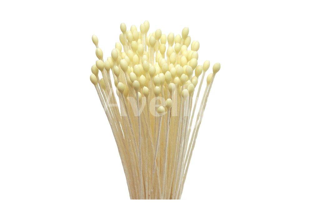 Японские тычинки для цветов желтые круглые мелкие 1 мм