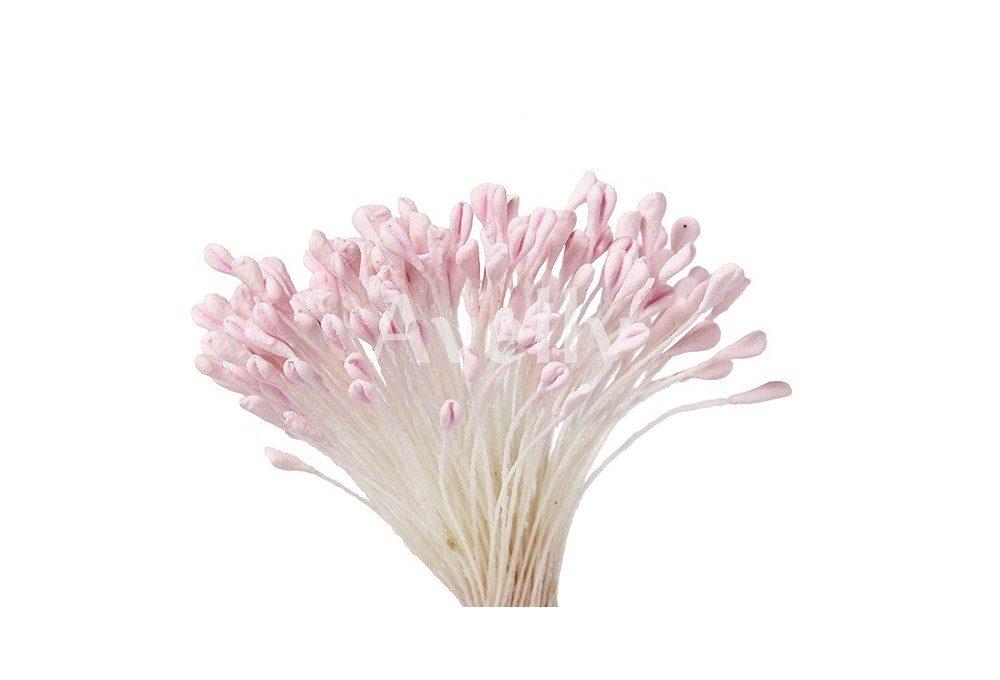 Тычинки для розы нежно-розовые крупные
