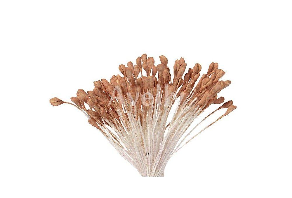 Тычинки для розы крупные золотистая охра коричневые