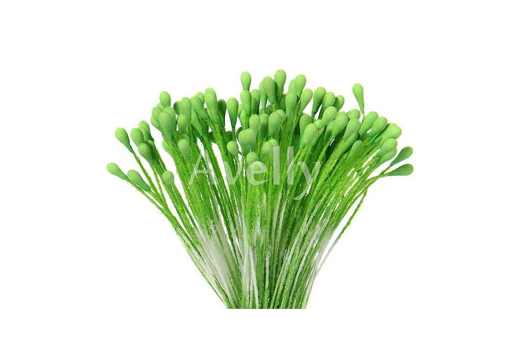 Тычинки зеленые салат крупные