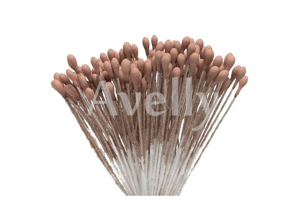 Тычинки для цветов коричневого цвета, орех