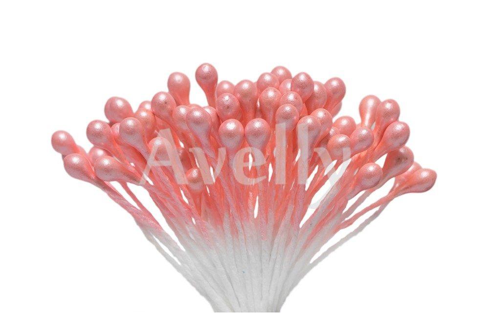 Тычинки для цветов персиковые, перламутр