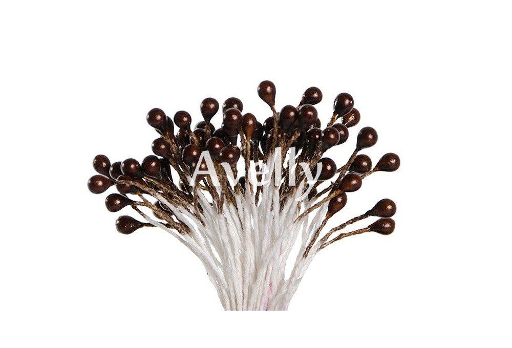 Тычинки для цветов кофейный перламутр