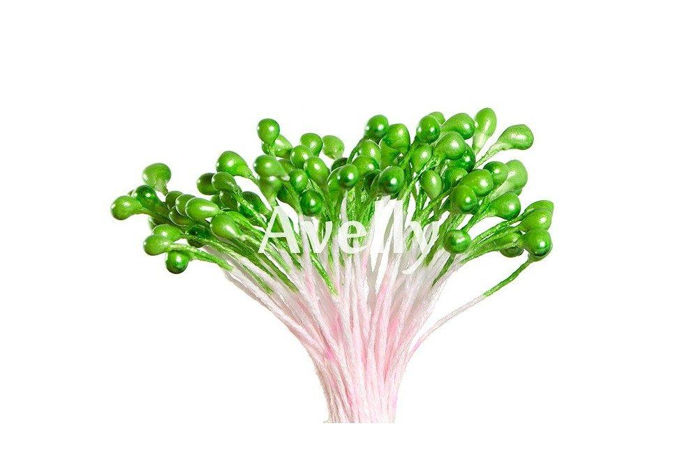 Тычинки для цветов зеленое яблоко, перламутр