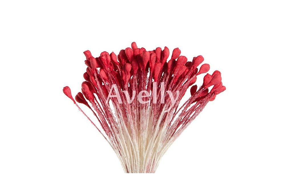 Тычинки для цветов матовые венецианский красный