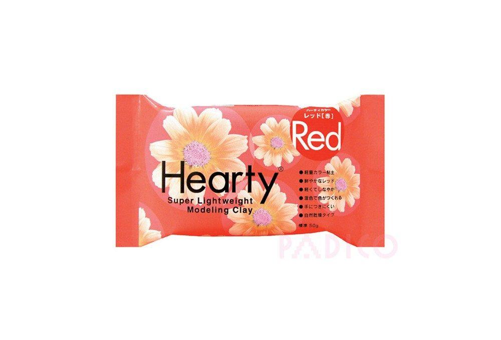 японская зефирная глина hearty для цветов, красная