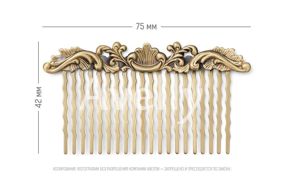 гребень для волос с декоративным элементом цвет бронзовый