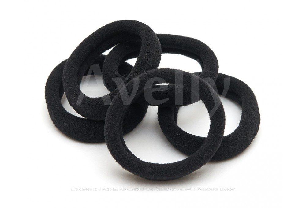 резинки для волос черные