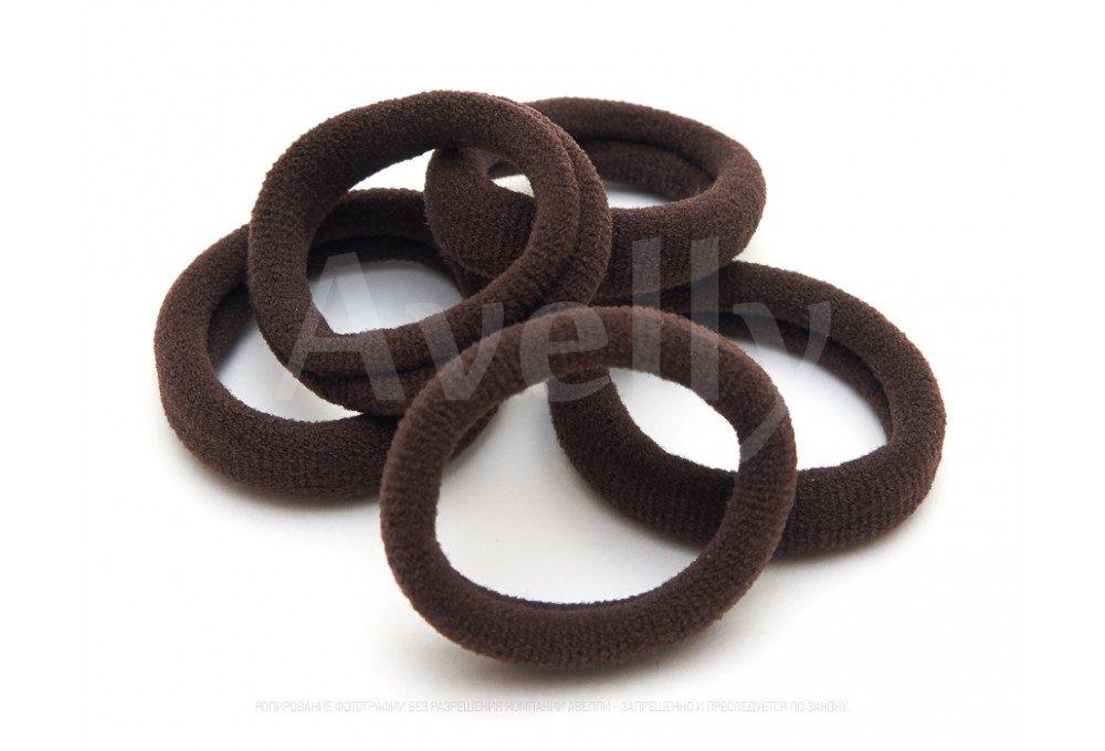резинки для волос темно-коричневые