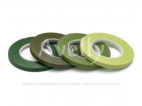 Флористическая лента узкая, цвет зеленый мох
