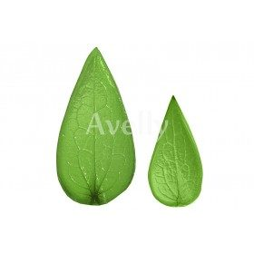 Текстурный молд лист клематиса средний и малый
