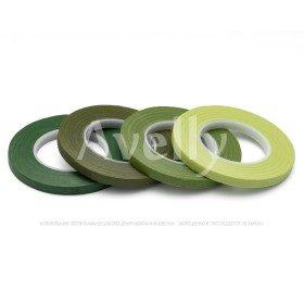 Флористическая лента узкая, цвет зеленый