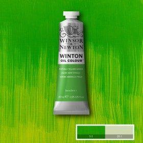 Масляная краска фтало-зеленый желтый (Phthalo Yellow Green), Winsor&Newton, 37 мл