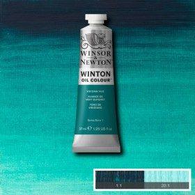 Масляная краска Виридоновая фтало (Viridian hue), №43, Winsor&Newton, 37 мл