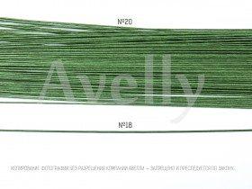 Проволока для цветов №20  в бумажной обмотке зеленая, 30 см, 100 шт
