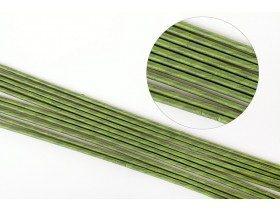 Проволока для цветов №14 в бумажной обмотке зеленая, 45 см, 10 шт