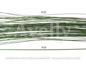 Проволока для цветов №30, в бумажной обмотке зеленая, 30 см, 100 шт