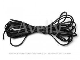 Шнур замшевый черный для украшений и браслетов купить