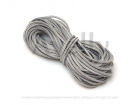 Шнур замшевый серый для браслетов