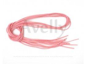 Замшевый шнур розового (клубничного цвета)