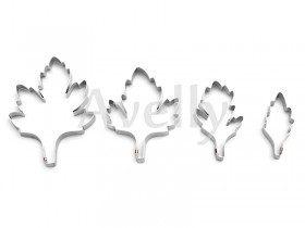 металлический каттер листья хризантемы