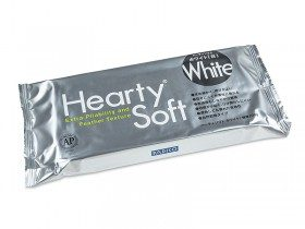 Японская зефирная глина Hearty soft, белая, 200 г (2021)