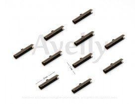 Концевики для лент, 30*5 мм, античная бронза, 10 шт