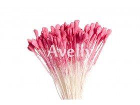 Тычинки для цветов насыщенно-розовые, 288 шт