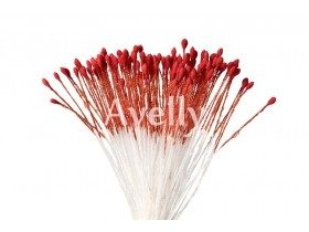 Тычинки для цветов венецианский красный, мелкие, 280 шт