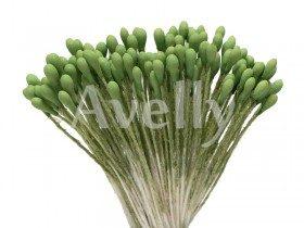 """Тычинки для цветов зеленые, """"авокадо"""", средние"""