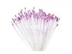 Тычинки для цветов сиреневые матовые, мелкие, 280 шт, Китай
