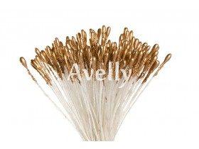 Тычинки для цветов золото, средние, 280 шт, Китай