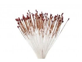 Тычинки для цветов коричневато-бордовые, мелкие, 280 шт, Китай