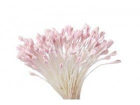 """Тычинки для цветов матовые """"Нежно-розовые"""" (крупные), Китай, 288 шт"""