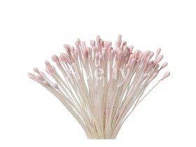Тычинки для цветов матовые бледно-розовые, 288 шт