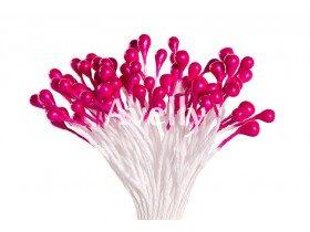 Тычинки для цветов насыщенно-розовые, перламутр, 140 шт