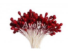Тычинки для цветов клюквенные, перламутр, 280 шт, Китай