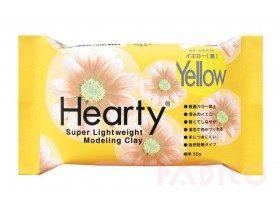 Японская полимерная глина Hearty, желтая, 50 гр (2021)