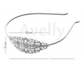 Украшение декоративный ободок-основа для волос серебряный