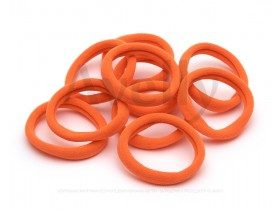 Резинка для волос оранжевый неоновый, 10 шт