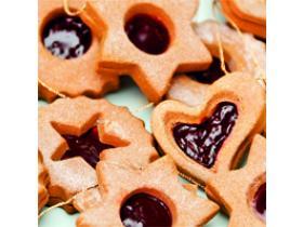 Новогодний МК, Имбирное печенье с джемом