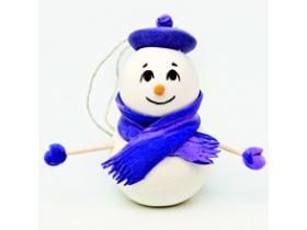 Новогодний МК, снеговичок Скромняжка