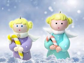 Рождественский ангелочек из глины Hearty